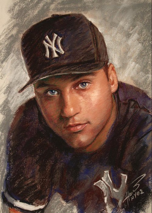 Jeter Drawings Greeting Cards