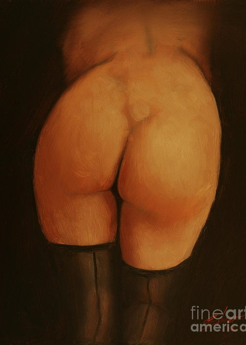 Paintings Greeting Card featuring the painting Derriere by John Silver
