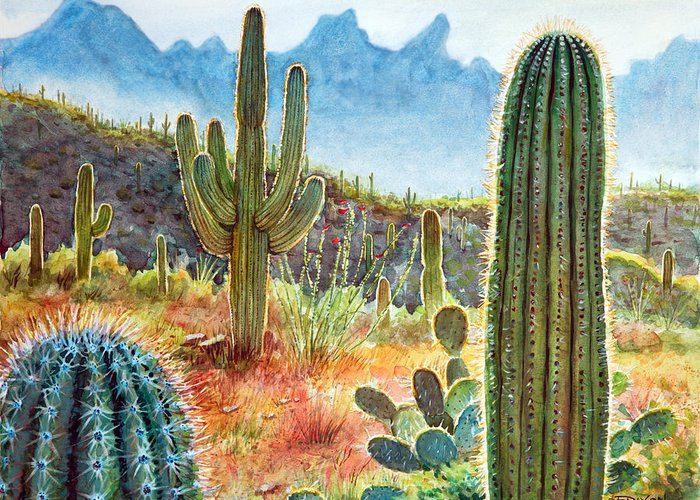 Cacti Greeting Cards
