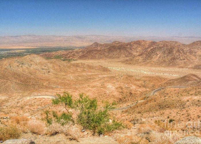 California Greeting Card featuring the photograph Desert Highway by Deborah Smolinske