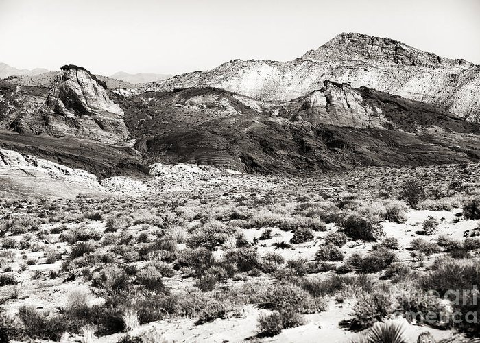 Desert Peaks Greeting Card featuring the photograph Desert Peaks by John Rizzuto