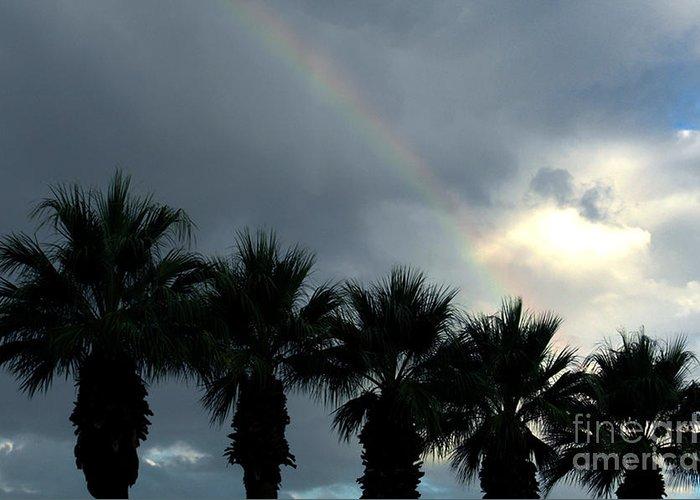 California Greeting Card featuring the photograph Desert Rainbow by Deborah Smolinske