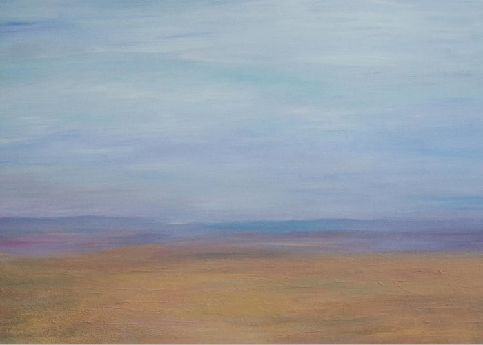 Landscape Greeting Card featuring the painting Desert by Stephen Degan
