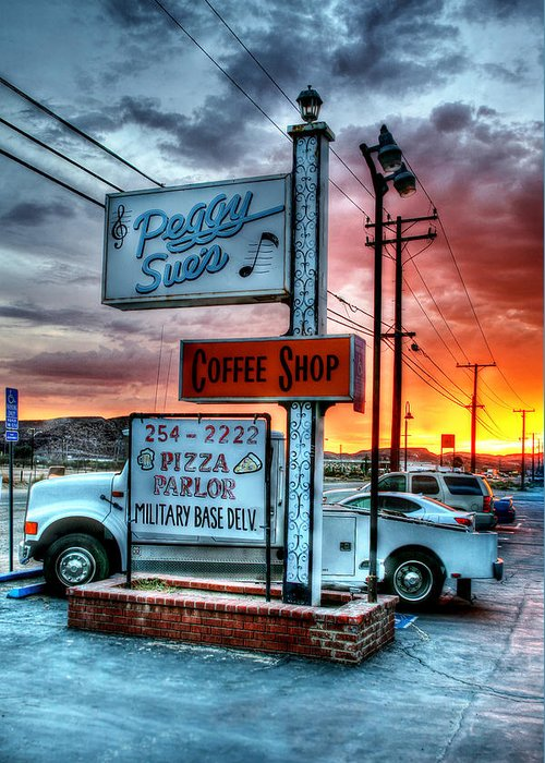 Peggy Greeting Card featuring the photograph Desert Stop by Steve Parr