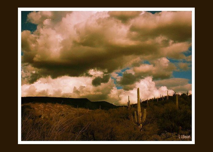Southwestern Greeting Card featuring the photograph Desert Storm by L L Stewart