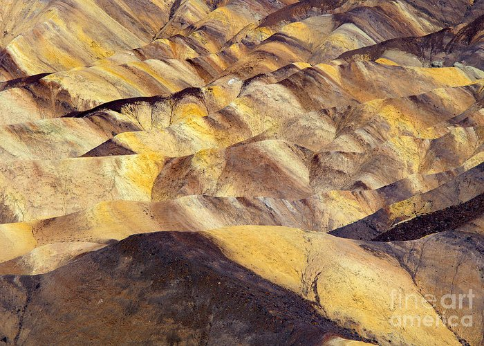 Zabriskie Point Greeting Card featuring the photograph Desert Undulations by Mike Dawson