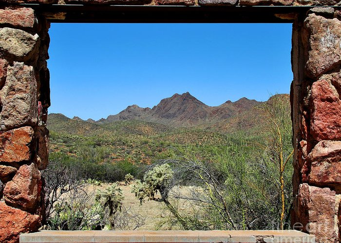 Tucson Greeting Card featuring the photograph Desert Window by Jemmy Archer