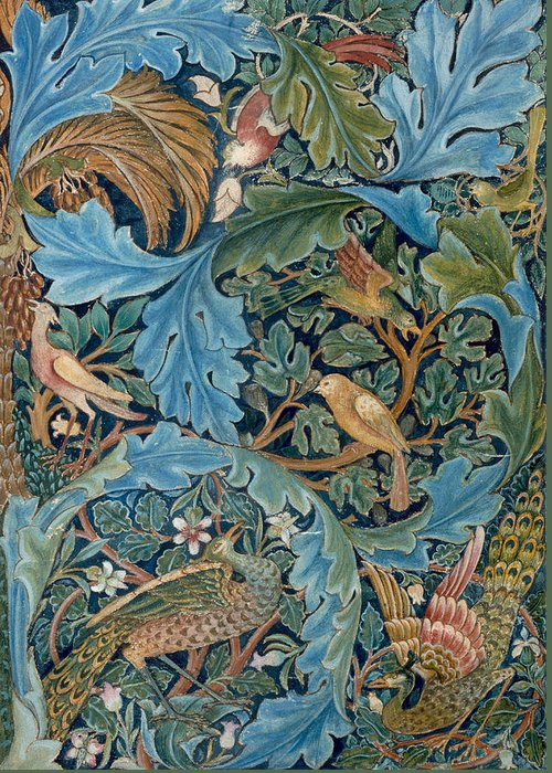 William Morris Greeting Card featuring the painting Design For Tapestry by William Morris