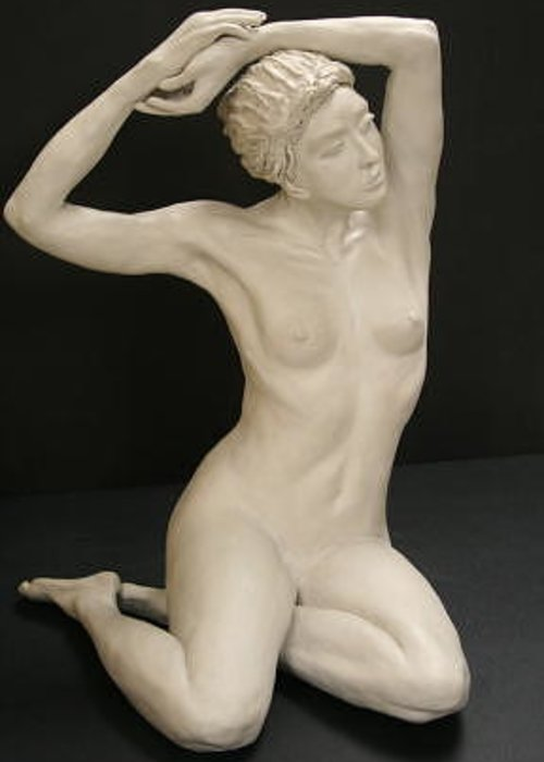 Figure Greeting Card featuring the sculpture Desiree by Monika Degan