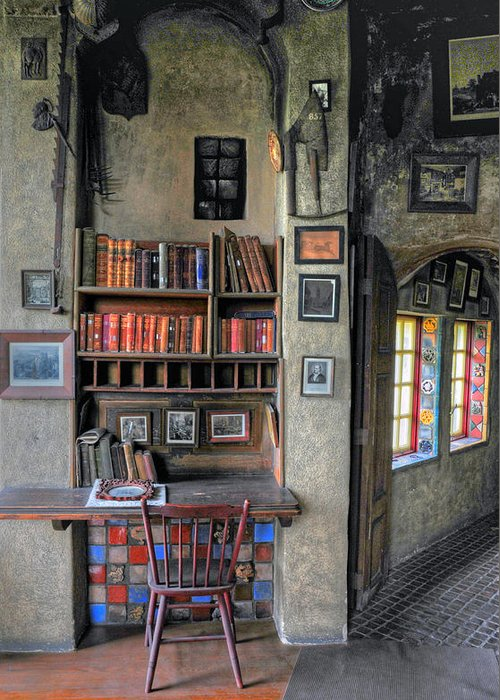 Castle Greeting Card featuring the photograph Desk At The Castle by Dave Mills