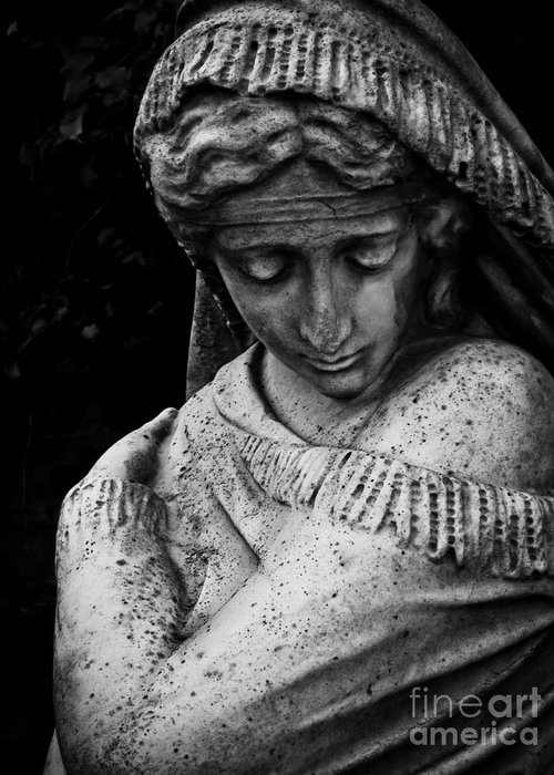 Sculpture Greeting Card featuring the photograph Despair by Colleen Kammerer