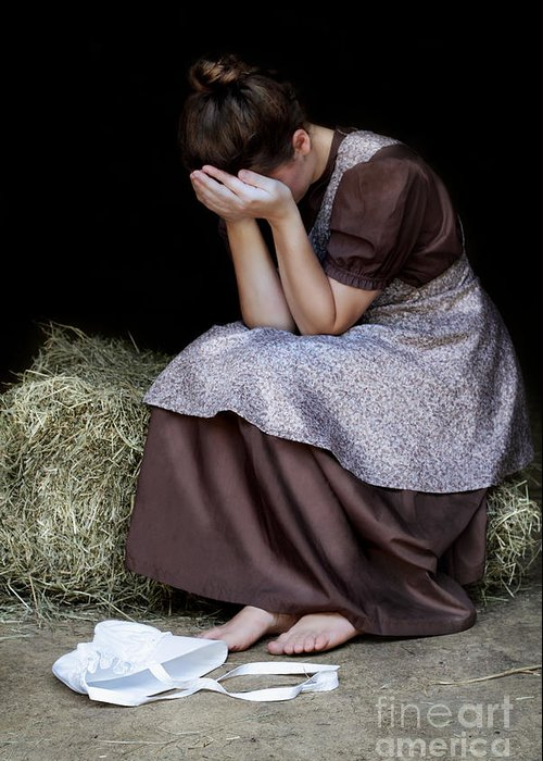 Praying Greeting Card featuring the photograph Despair by Stephanie Frey