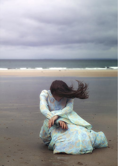 Woman Greeting Card featuring the photograph Desperation by Joana Kruse