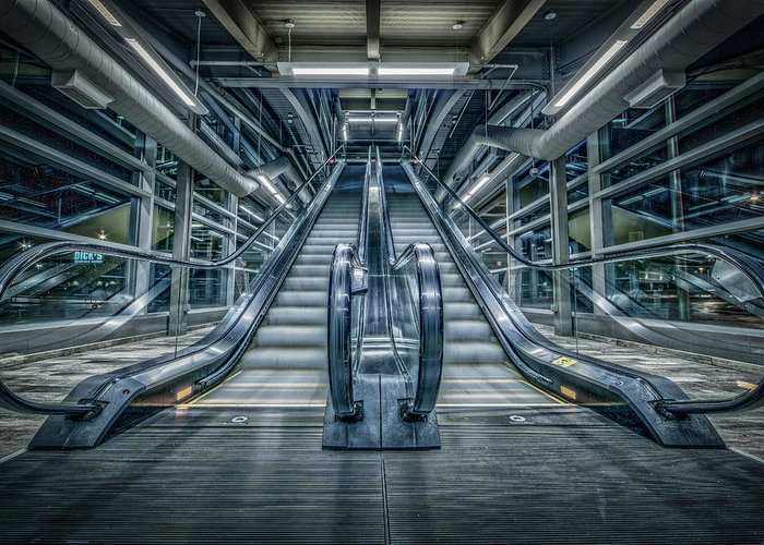 Escalator Greeting Card featuring the photograph Destiny by Everet Regal