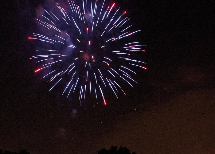 Cities Greeting Card featuring the photograph Detroit Area Fireworks -9 by Paul Cannon