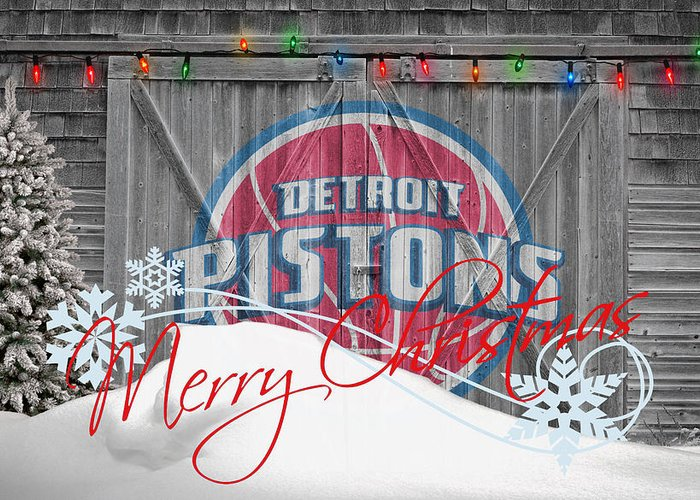 Pistons Greeting Card featuring the photograph Detroit Pistons by Joe Hamilton