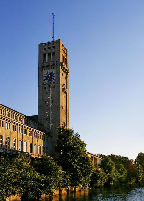 Deutsches Greeting Card featuring the photograph Deutsches Museum Munich - Meteorological Tower by Christine Till