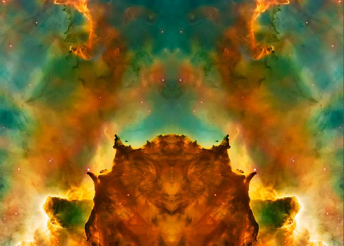 Universe Greeting Card featuring the photograph Devil Nebula by Jennifer Rondinelli Reilly - Fine Art Photography