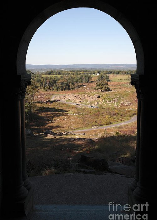 12th New York Regiment Greeting Card featuring the photograph Devils Den From Little Round Top In Gettysburg by William Kuta