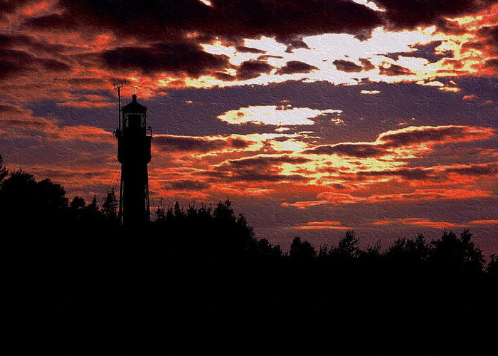 Apostle Greeting Card featuring the photograph Devil's Island Lighthouse by Kim Blaylock