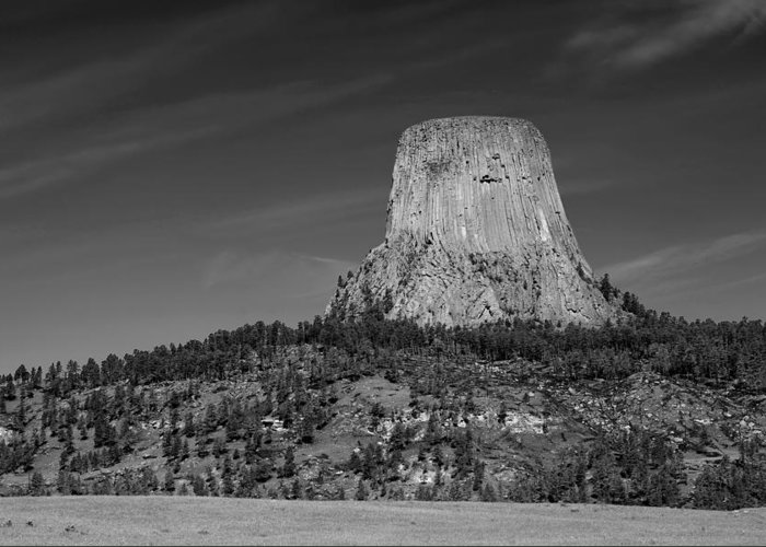 Devil's Tower Greeting Card featuring the photograph Devil's Tower by Steve Parr