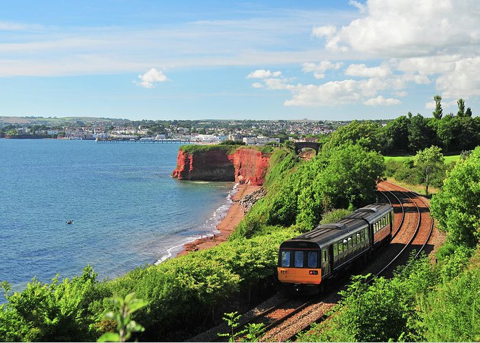 Passenger Train Greeting Card featuring the photograph Devon Train by Maxian