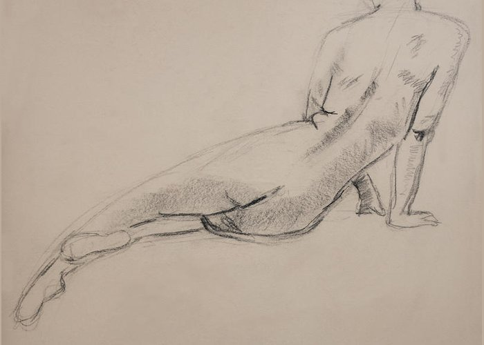 Figurative Greeting Card featuring the drawing Diagonal Form by Sarah Parks
