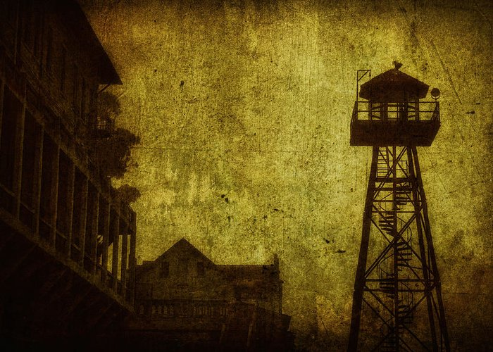 Alcatraz Greeting Card featuring the photograph Diminished Dawn by Andrew Paranavitana