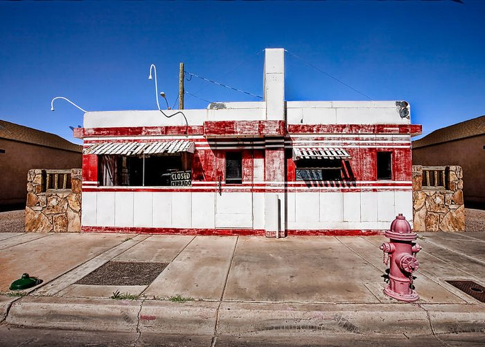 Arizona Greeting Card featuring the photograph Diner by Peter Tellone