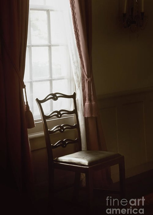 Chair Greeting Card featuring the photograph Dining Room Window by Margie Hurwich