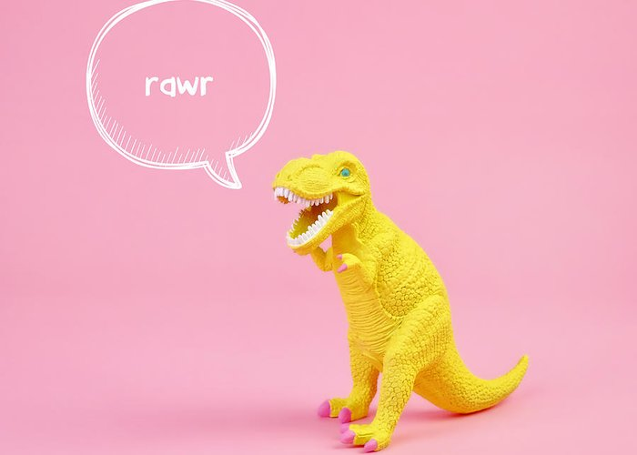 Animal Greeting Card featuring the photograph Dinosaur Rawr by Juj Winn