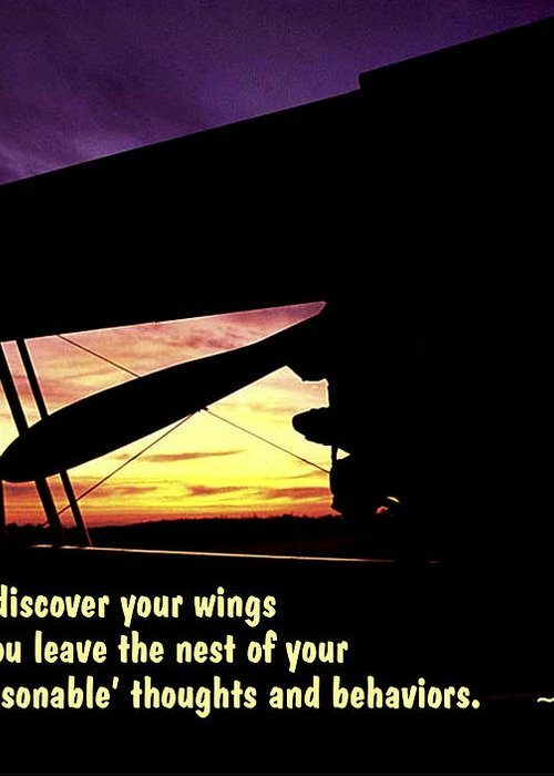 Quotation Greeting Card featuring the photograph Discover Your Wings by Mike Flynn