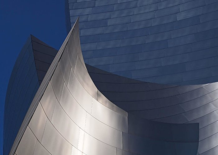 Walt Disney Concert Hall Greeting Card featuring the photograph Disney Hall Abstract by Rona Black
