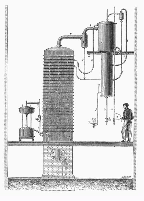 19th Century Greeting Card featuring the photograph Distillation, 19th Century by Granger
