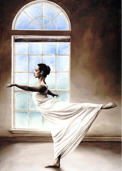 Dance Greeting Card featuring the painting Divine Grace by Richard Young