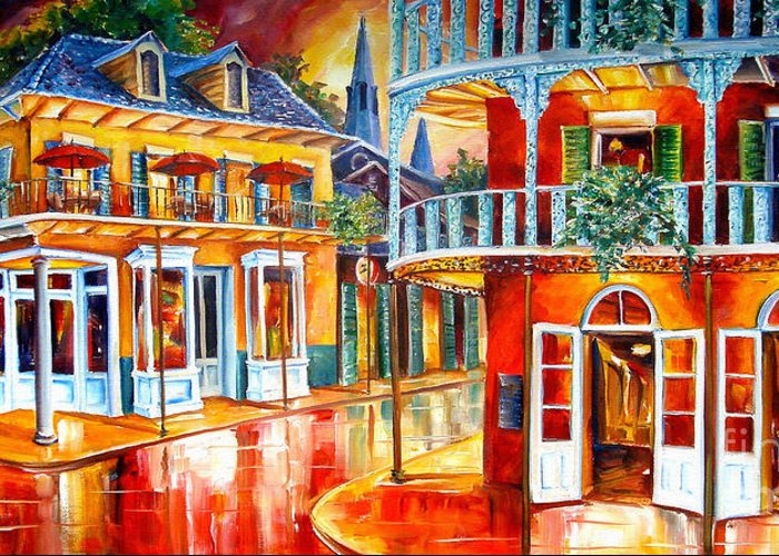 New Orleans Greeting Card featuring the painting Divine New Orleans by Diane Millsap