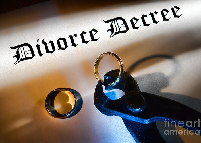 Divorce Greeting Card featuring the photograph Divorce Decree by Olivier Le Queinec