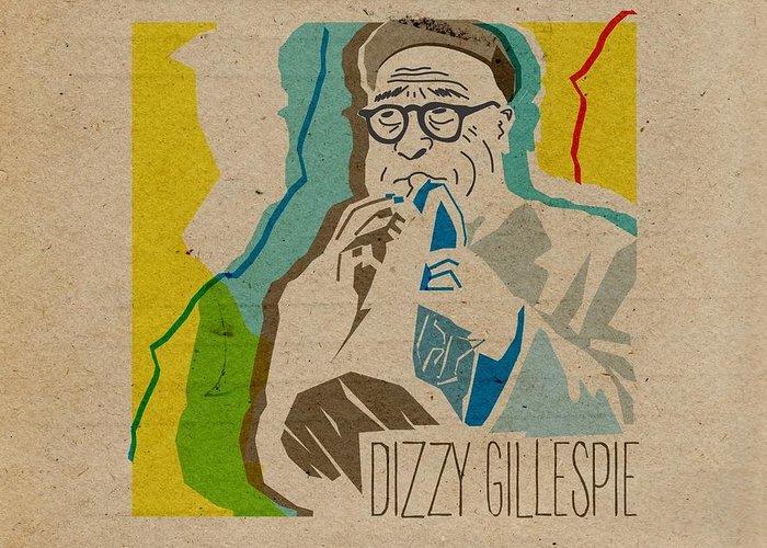 Dizzy Gillespie Greeting Card featuring the digital art Dizzy Gillespie by Giorgi Akhuashvili