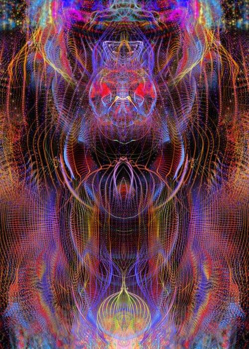 Greeting Card featuring the digital art Dj Celestial by Arcane Paradigm
