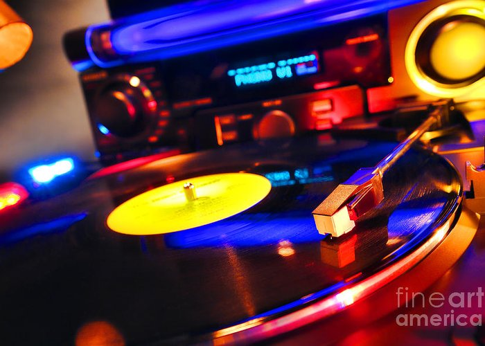 Dj Greeting Card featuring the photograph Dj 's Delight by Olivier Le Queinec