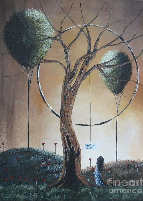 Dead Trees Greeting Card featuring the painting Do Not Enter By Shawna Erback by Shawna Erback