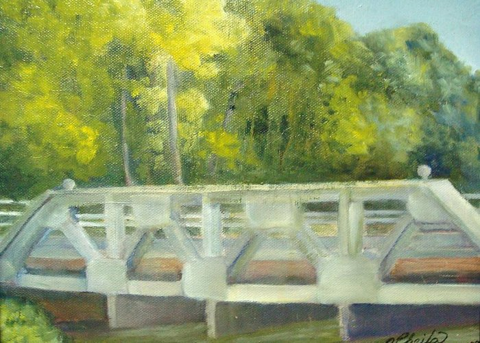 Smithville Park Greeting Card featuring the painting Do You Paint Fish? by Sheila Mashaw