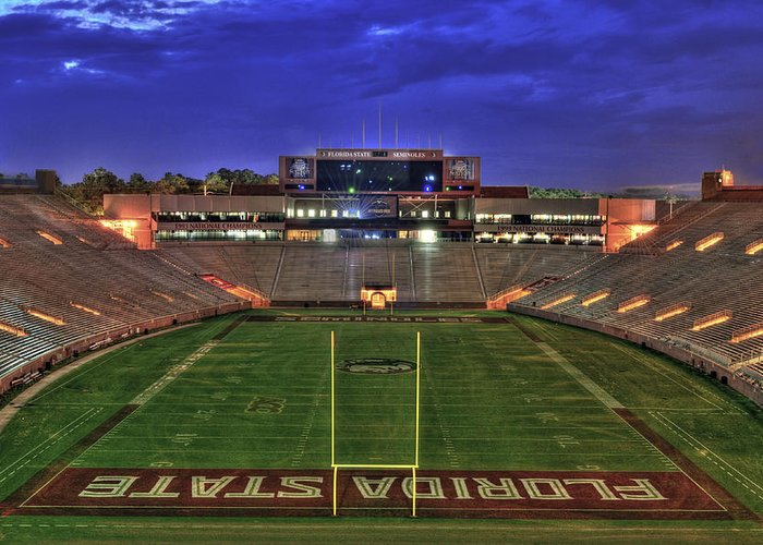 Landscape Greeting Card featuring the photograph Doak Campbell Stadium by Alex Owen