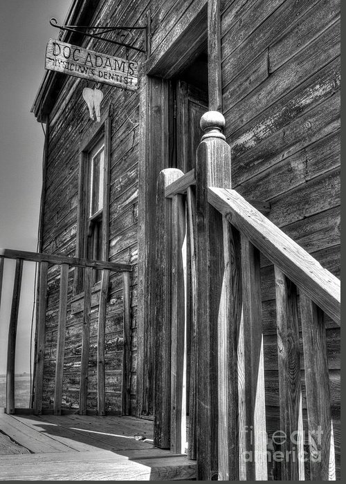 Wooden Buildings Greeting Card featuring the photograph Doc Adams by Mel Steinhauer