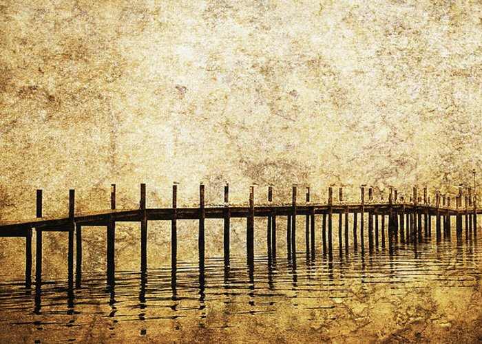 Art Greeting Card featuring the photograph Dock by Skip Nall