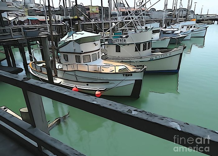 Boats Greeting Card featuring the photograph Docked Boats by Phil Campanella