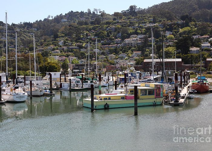 Sausalito Greeting Card featuring the photograph Docks At Sausalito California 5d22697 by Wingsdomain Art and Photography