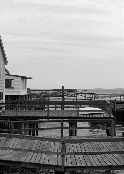 Docks Greeting Card featuring the photograph Docks by Becca Brann