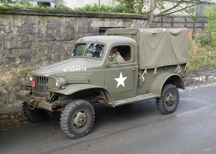 Dodge Greeting Card featuring the photograph Dodge 4x4 Wc41 by Ted Denyer