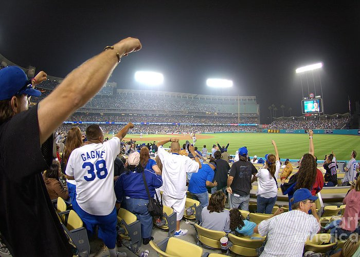 Dodgers Greeting Card featuring the photograph Dodger Stadium 3 by Micah May